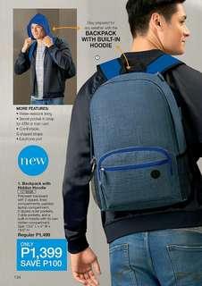 Backpack with Hidden Hoodie
