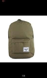 Herschel Unisex Classic Olive Green Backpack