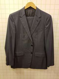Prada  MEN 50R blue silk wool suit