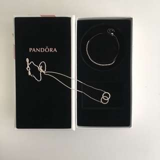 Pandora Box Set - Silver Necklace & Bracelet