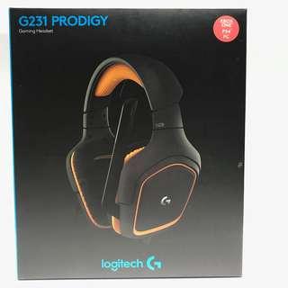 全新 Logitech G231 PRODIGY 耳機 (已開封 未使用 有單有保養)