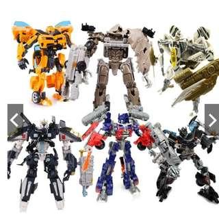 Transformers Optimus Prime, Bumblebee, Megatron, Ironhide, Skyhammer, Redspider transformer robot toy toys Kids