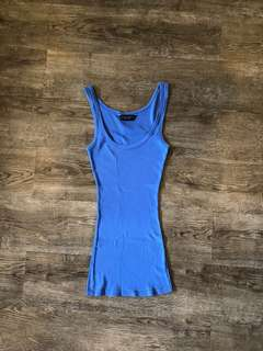Dorothy Perkins Sapphire Blue Ribbed Tank Top