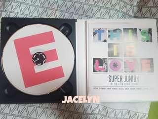 Super Junior album THIS IS LOVE Eunhyuk version E cover