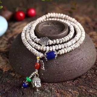 星月菩提子多圈手鏈 925銀泰銀配飾