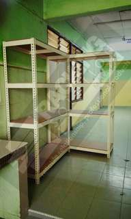 BEIGE RACKING FOR STORAGE