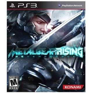 PS3 Metal Gear Rising & Watch Dogs