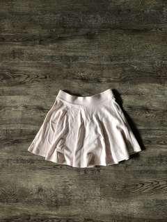 Bershka Light Pink Skater Skirt