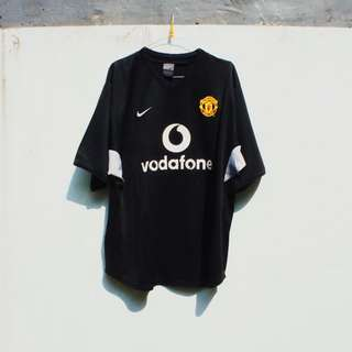 Manchester United Training Jersey Nike Adidas Vodafone Black Hitam Red