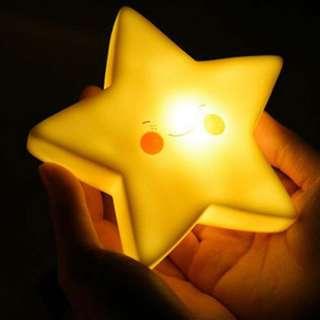 Star Night light Children Kids Girl Boy Nursery Room lighting Decoration