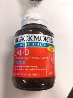 BNIB Blackmores cal-D