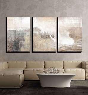 Waves - 3 panels wall art prints
