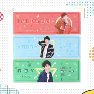 TFBoys Colored Hand Banner Support