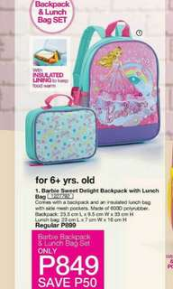 Barbie Sweet Delight Backpack with Lunch Bag