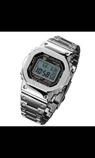 🚚 2018 Casio G-shock 35th Anniversary Limited Gmw-b5000d-1jf Silver Full Metal