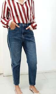 Brand New Two-Tone Mom Jeans