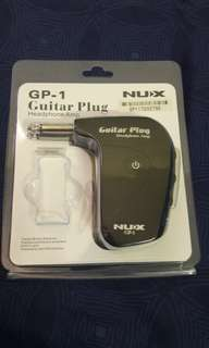 Nux Gp - 1 Universal Electric Guitar Plug Headphone Amp Built-In Distortion Effect (Black)