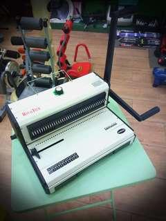 @Used ROYAL TECH RT970 Wire-O Binding Machine 3:1