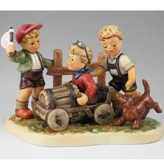 "Goebel Hummel Figurine ""Soap Box Derby"" #2121 TMK 8"