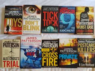 James Patterson Novels for SALE