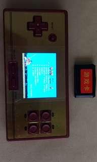 Retro gaming NES handheld.