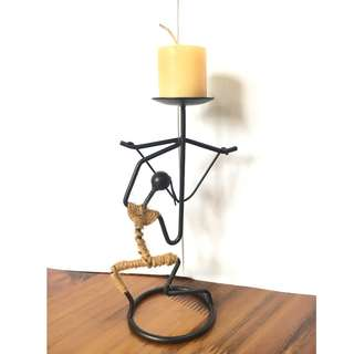 🚚 Metal Candle Holder Handcraft Art - Dancer