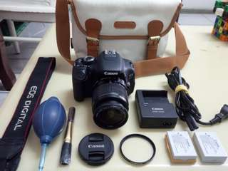 🚚 Canon 600D+2 Battery+Bag+All