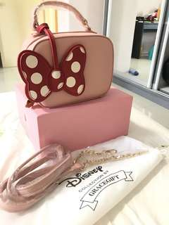 Disney collection by Grace Gift Minnie Bag (Pink)