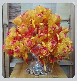 Bunga pahar sponge yellow red