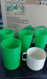 Unused Vintage Milo set of 5 cups