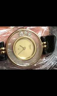 肖邦18k金三顆鑽石表正品
