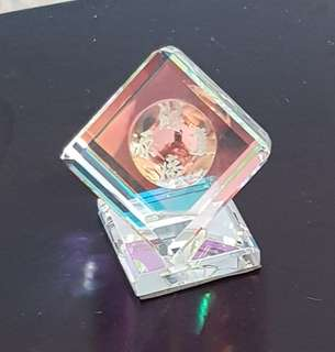 Fengshui cube design rainbow natural crystal