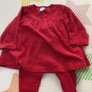 H&M red set