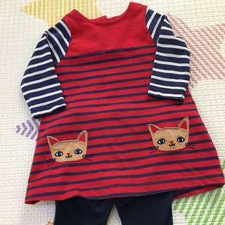 Mothercare red kitten set