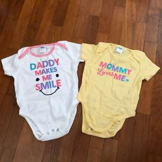 Romper Daddy Mommy wordings print