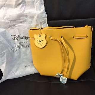 Winnie the Pooh 小熊維尼造型綁結束繩水桶包