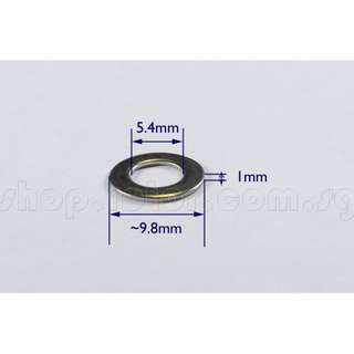 🚚 Flat Washer 5.4x10x1mm (20) for 5mm screw, 304 Stainless Steel. Code: FW054100