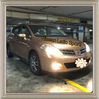 NISSAN LATIO CVT 1.5L ABS D/AIRBAG 2WD 5DR! Promo Now! Petrol Saver Proven! 18% off petrol Card! Lowest Price! Can Drive For Grab/RydeX/Sixtnc! Flexible Rental Scheme! Personal User! Call Now!