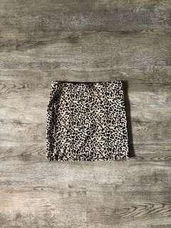 Leopard Print Miniskirt