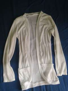 Cotton Blazer (White)