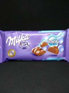 Milka Bubbly milk chocolate made in turkey