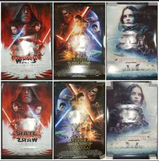 Title:  Authentic Star Wars Movie Posters. Set of 3 (US Version With Release Date).