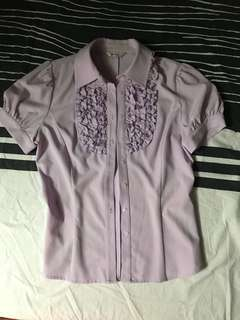 PASTEL PURPLE SHORTSLEEVES POLO FITS S-M