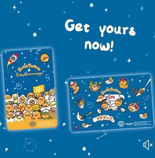 Limited Edition brand new Gudetama 5th Anniversary Design ezlink Card With Nice Folder For $11.90 EACH.