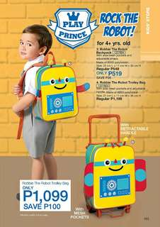 Robbie the Robot Backpack / Robbie the Robot Trolley Bag