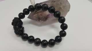 Black obsidian (貔貅) 10mm