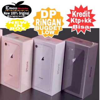 Apple iPhone 8 64GB New Original Cash/kredit Dp 3jt ditoko Ktp+kk call/wa;081905288895