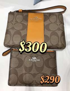 Coach Card Holder card Case wristlet Coins bag Coins Case 手挽袋八達通套證件套卡包卡片套散紙包