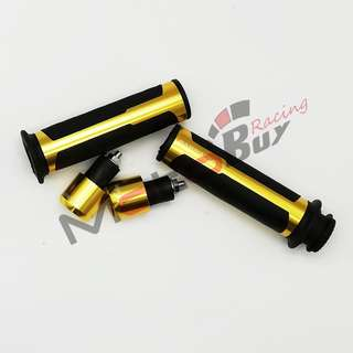 BARRACUDA Rubber Aluminium HANDLE GRIP WITH BALANCER ( universal for all motorcycle)