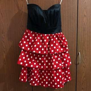 Red & Black Tube Dress